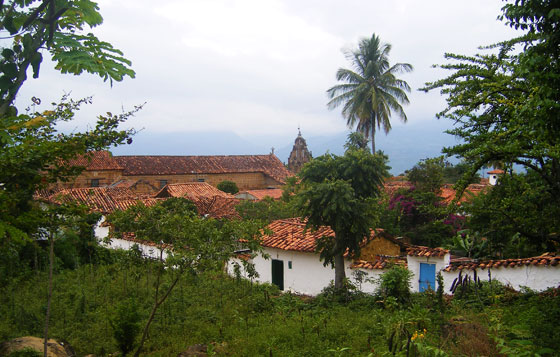 View of Guane's rooftops