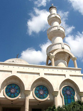 The minaret of Omar Ibn Al-Jattab Mosque in Maicao