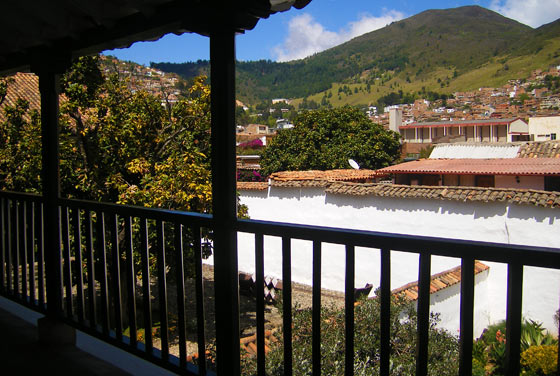 View from a balcony in the Museo de Arte Moderno, Pamplona, Colombia