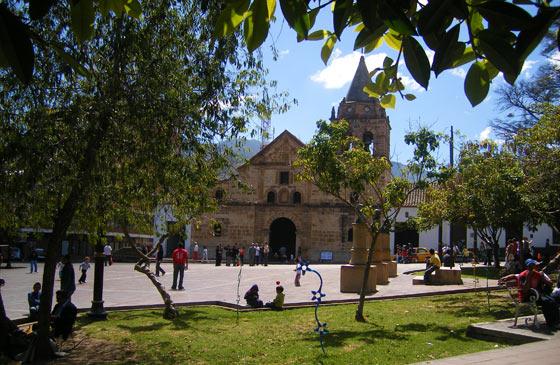 The small Santa Clara cathedral on Parque Agueda Gallardo, Pamplona
