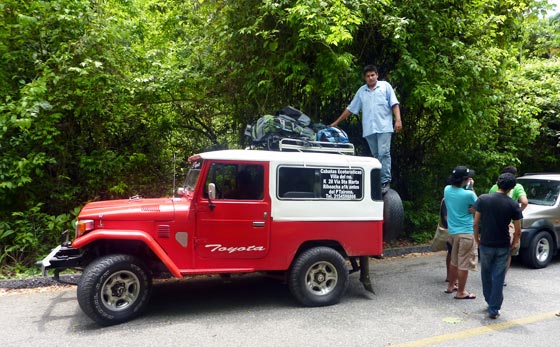 Tourist jeep in Parque Tayrona