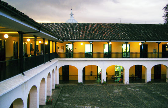 Typical courtyard in Popayan