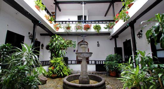 Hotel courtyard, Popayan