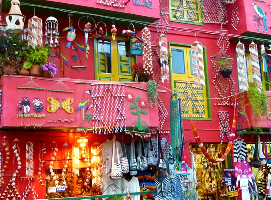 Colourful shop facade in Raquira