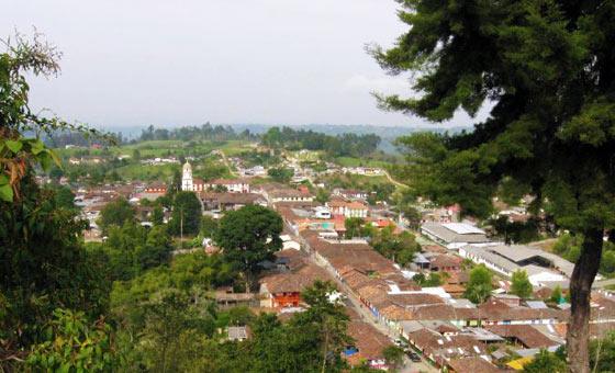 View of Salento from Alto de la Cruz lookout point