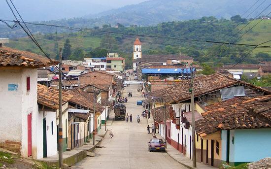 A main street in San Agustin