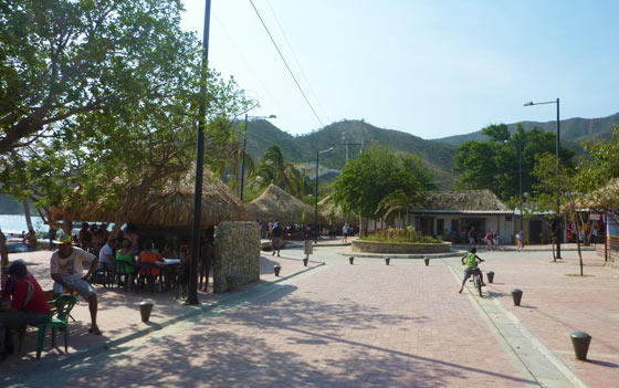 Taganga's main beachfront street