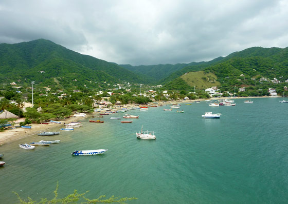 Taganga, a small fishing town near Santa Marta