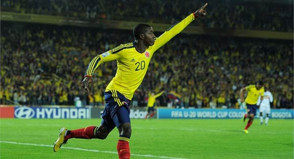 Jose Valencia celebrates opener against Mali